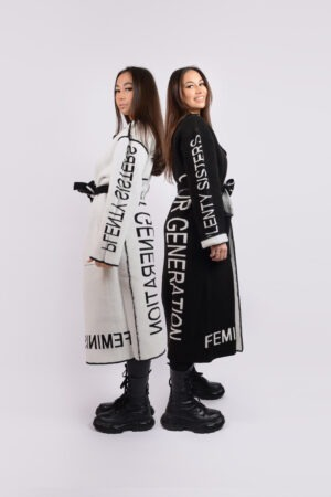 Reversible Coat Black White
