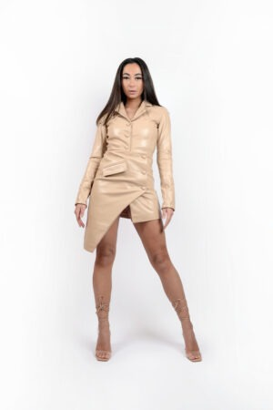 Blazer Dress Nude